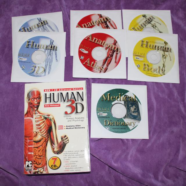 Best Human 3d Human Anatomy & Physiology 7 Cd Advanced Edition Pc Cd ...