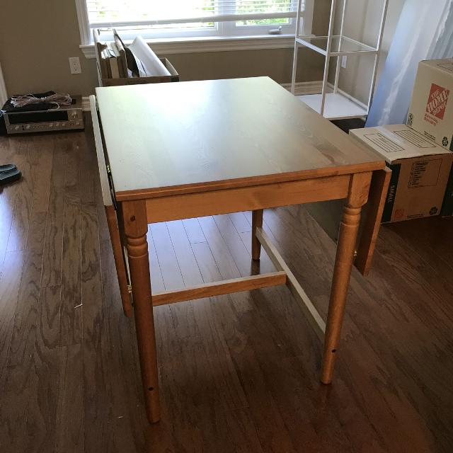 Best Ikea Ingatorp Drop Leaf Table For Sale In Kemptville Ontario