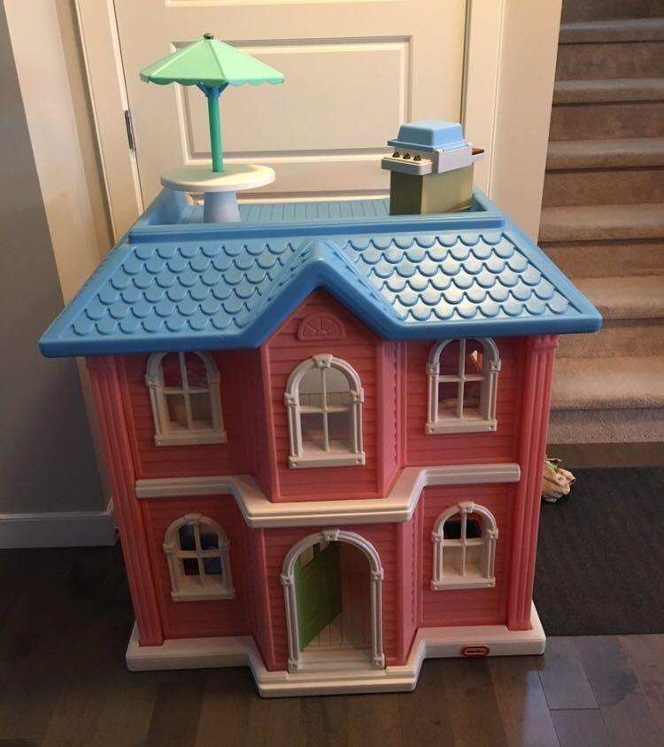 Best Vintage My Size Little Tikes Dollhouse Complete With
