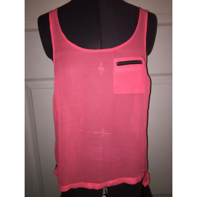 99539bff0aba47 Best Neon Pink Sheer Top (nwt) - M for sale in Calgary