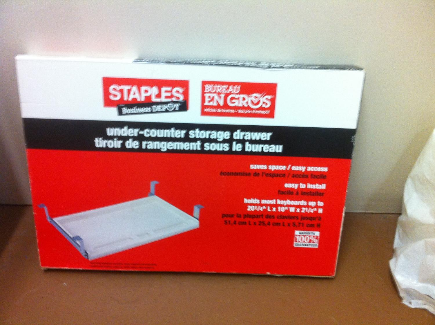 Best staples under counter storage drawyer. for sale in sarnia