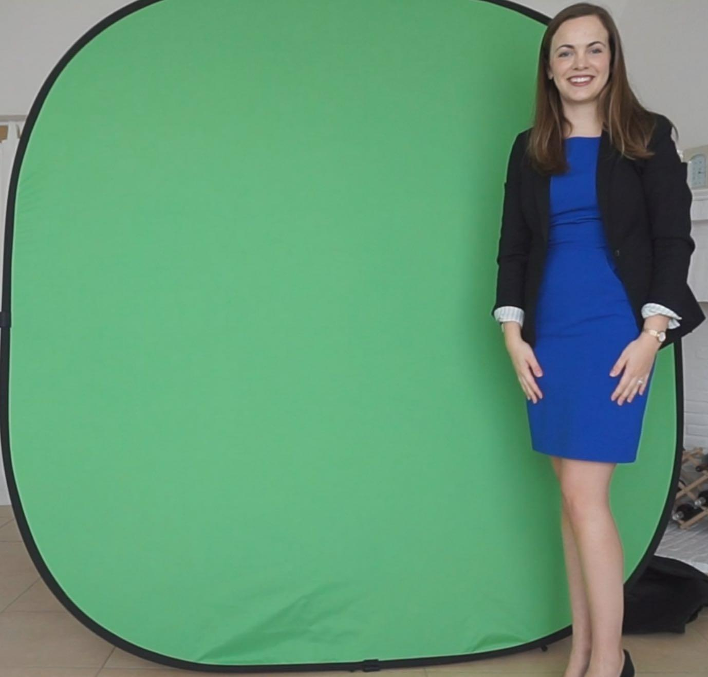 Portable pop up 2 color reversable green screen 2mx2m background Chromakey