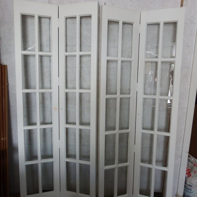 Pair of antique french bifold doors