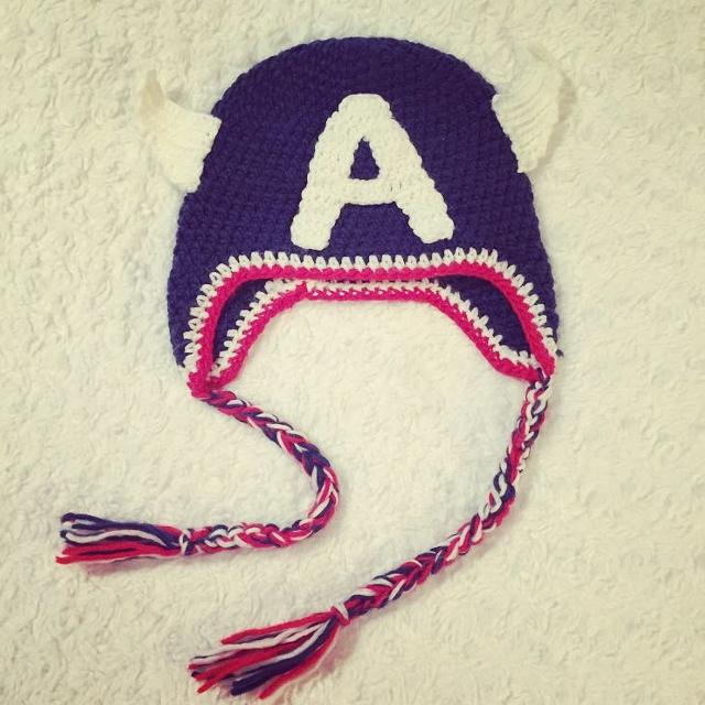 Best Captain America Crochet Hat. Perfect For Your Little Superhero! for  sale in Laval 13f6ba4dd32