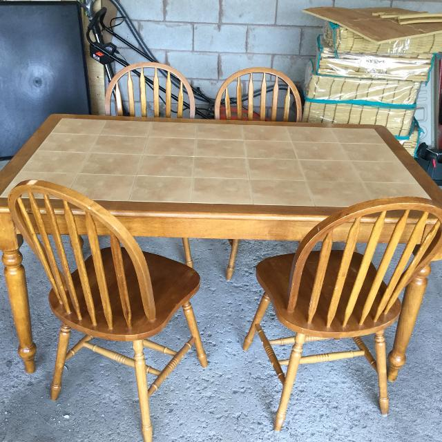 Find More Solid Wood And Ceramic Tile Kitchen Table Dining Set For Sale At Up To 90 Off