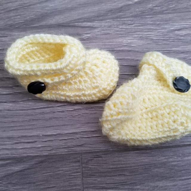 Best Handmade Crochet Newborn Baby Booties For Sale In Airdrie