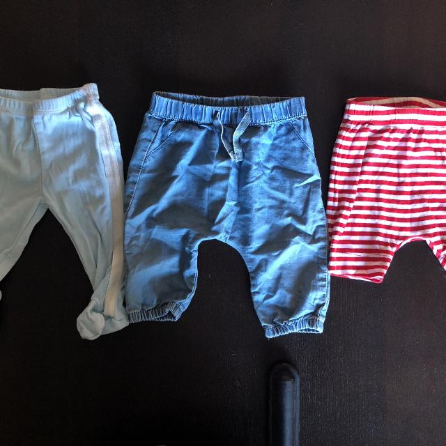 Best 2 H M Baby Pants And 1 Old Navy Shorts 3 6 Months For Sale