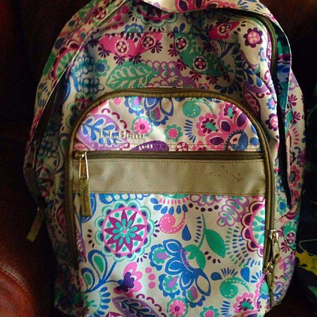 Ll Bean Backpack And Matching Lunch Box