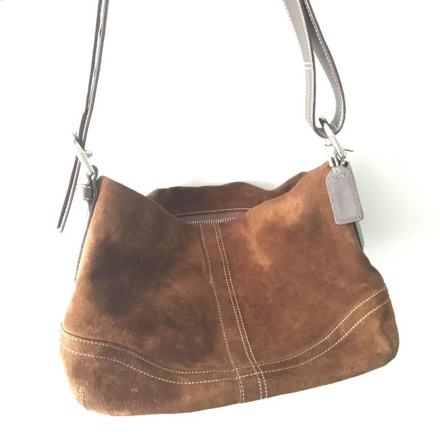 ab29149fe04e Best Brown Suede Coach Purse for sale in Victoria