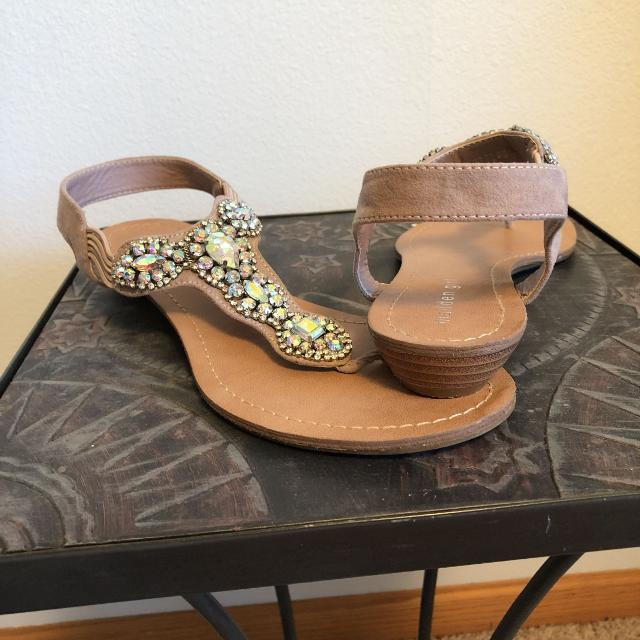 fa7535ca21fe Best Tan Jeweled Sandal for sale in Minot