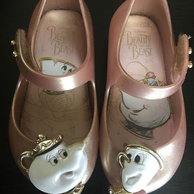 f30ed8842073 Best Authentic Mini Melissa Beauty And The Beast Rose Gold Shoes for sale  in South Gate