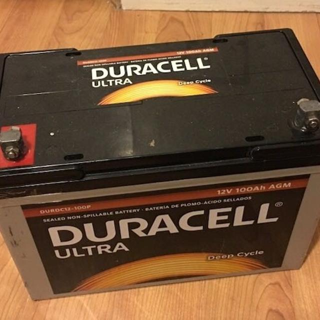 Duracell Ultra 12V 100AH Deep Cycle AGM SLA Battery WKDC12-100P