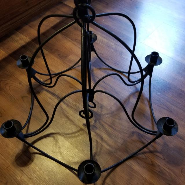 Find More Reduced Black Wrought Iron Chandelier Wedding Decor For