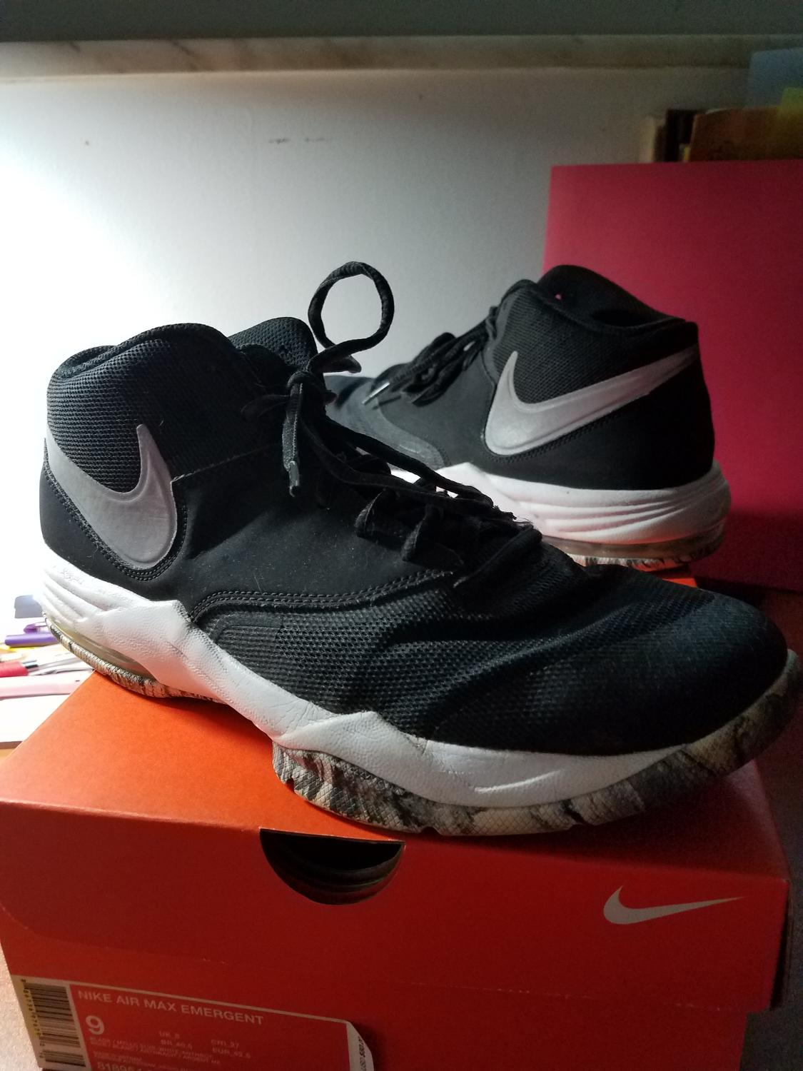 new products c1093 dd7b8 Best Nike Air Max Emergent Sneakers Athletic Shoes W box Black Men s 9 Eu  42.5 for sale in Oak Ridge, Tennessee for 2019