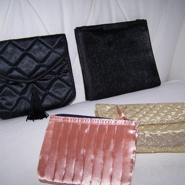 515db88f84 Best Fancy Gold Sparkle Makeup Bag & Satin Coin Purse & Black Satin Evening  Purses. for sale in Airdrie, Alberta for 2019