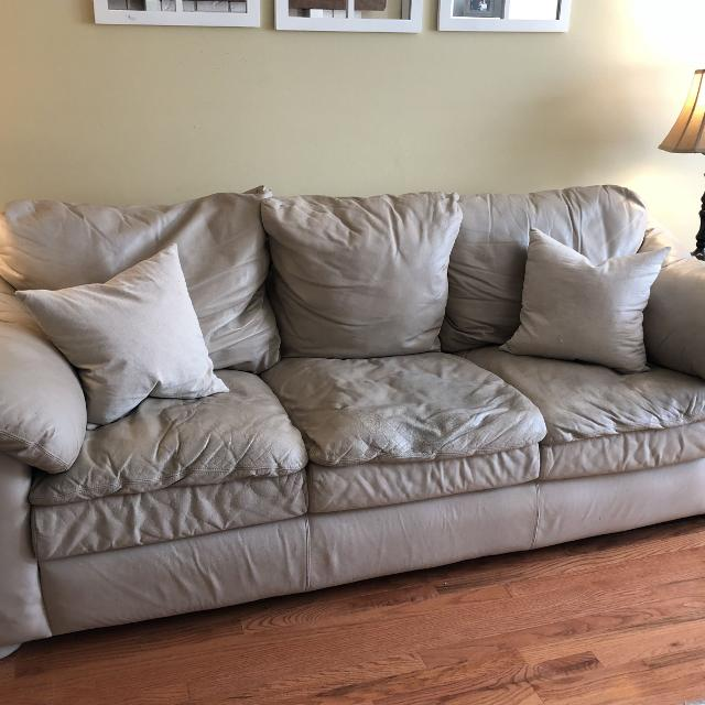 Leather Sofa Restuffing: Find More Reduced!! Real Leather Couch, Love Seat And