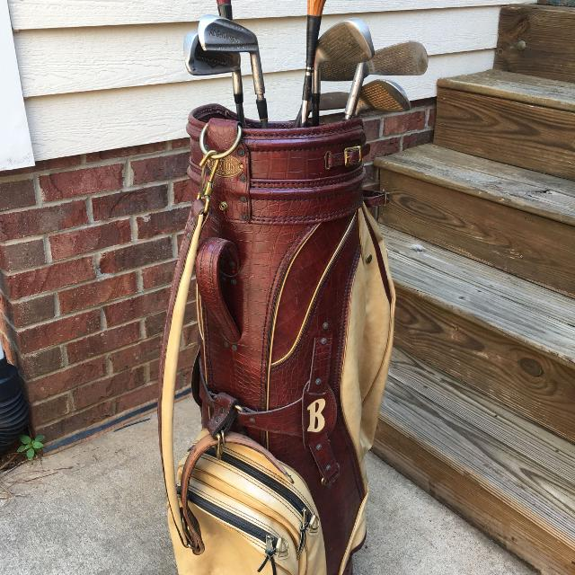 76181c5bf2384 Best Vintage Leather Golf Bag And Clubs for sale in Huntersville, North  Carolina for 2019