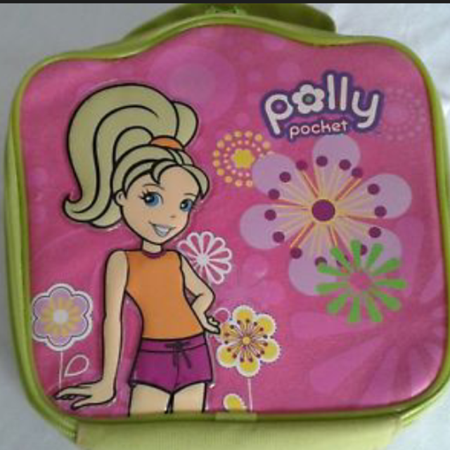 Polly Pocket Doll Carrying Case Filled With Polly Pocket Dolls, Clothes And  Accessories