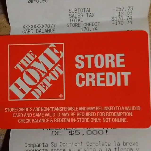 Best Home Depot Merchant Store Credit For Sale In Paradise