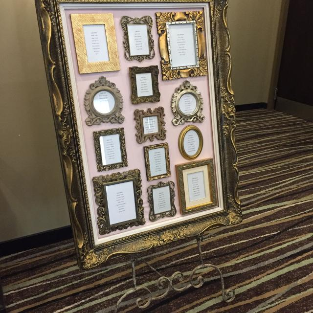 Find more Antique Frame With Picture Frames - Seating Chart for sale ...