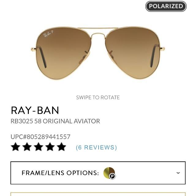 17c3dc780fb3 Authentic Ray Ban Gold Aviator Sunglasses Men or Women Bought at Macy's  Sunglass Hut Comes w