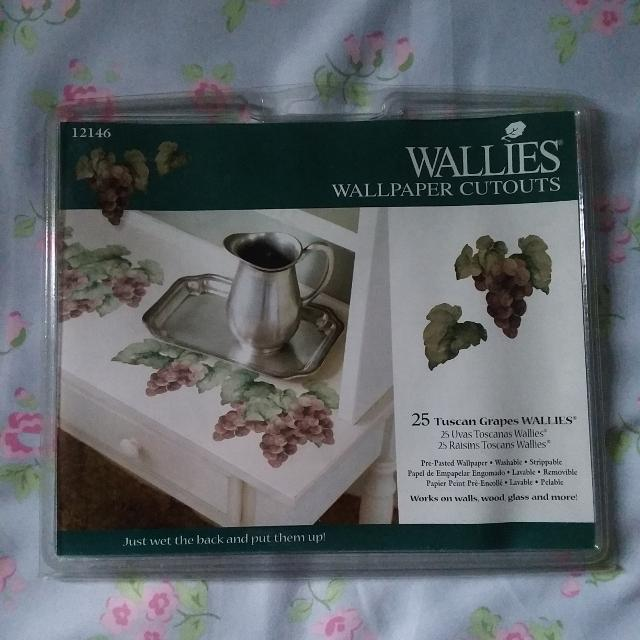 Grape Wallies Wallpaper Cutouts Great For Crafts Or Creative Home Wine Decor