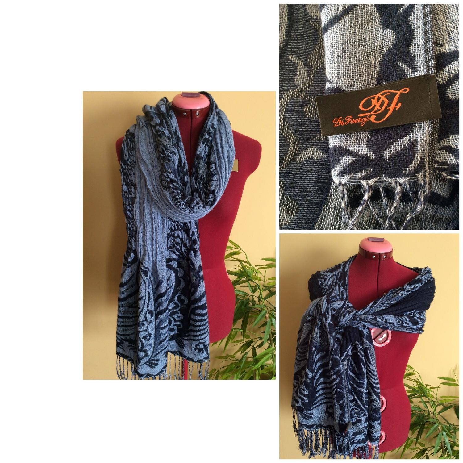 Best Designer Scarf In Denim Colors For Sale In Airdrie,