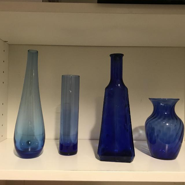 Find More 4 Blue Decorative Vases For Sale At Up To 90 Off