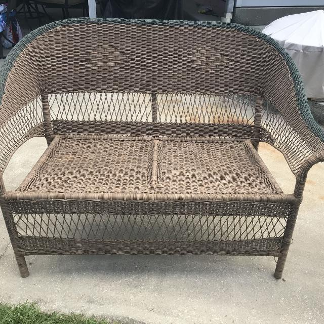 Find More Outdoor Wicker Loveseat Furniture Brown And Forest