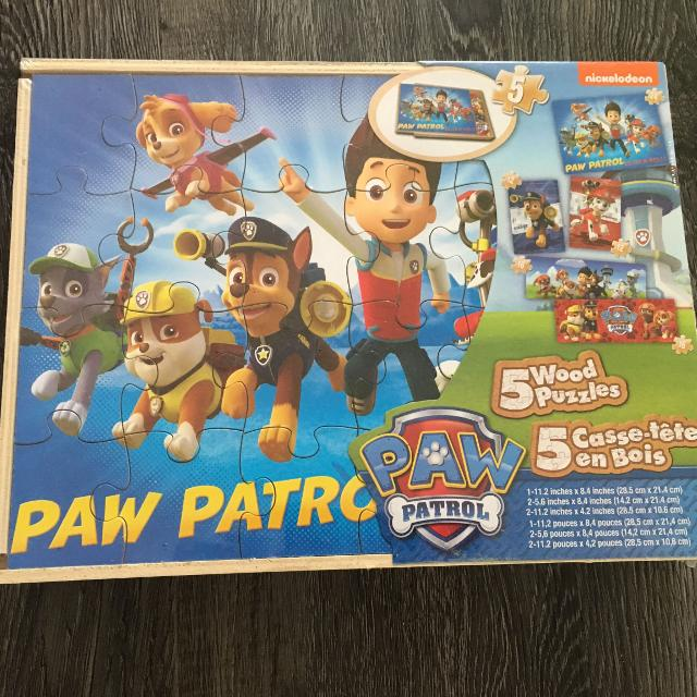 Paw Patrol box set of 5 puzzles - BRAND NEW