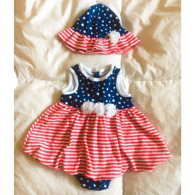 5b6b19a3c9c0a Find more Little Me Baby Girl 4th Of July Romper for sale at up to ...