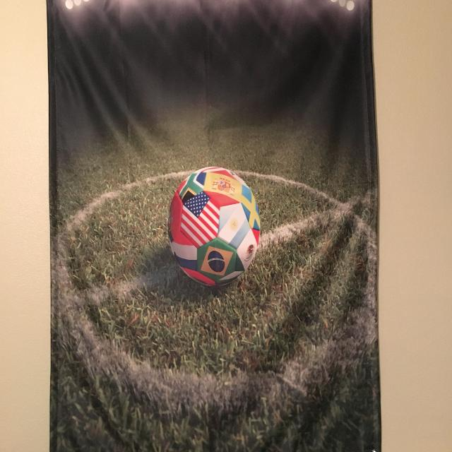 Find more Soccer Ball Cloth Wall Decor 38 X 59 In for sale at up to ...