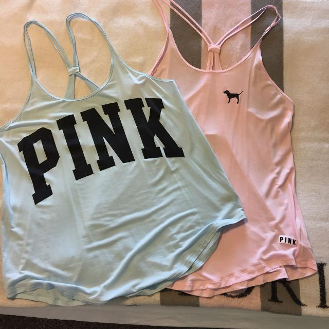 a45f08df62625 Victoria's Secret PINK Tanks Super Soft! Like New $12 for both size L