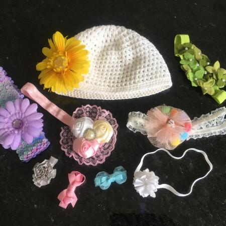 Baby Head Bands Bows Flower Hat for sale  Canada