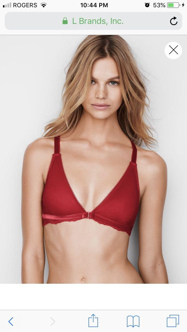 32e366db40 Find more Victoria Secret Deep Red Front Close Bralette for sale at ...
