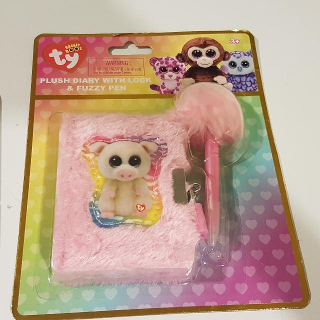 77a097a14c5 Find more New Sealed Beanie Boo Plush Diary With Lock And Pen for ...