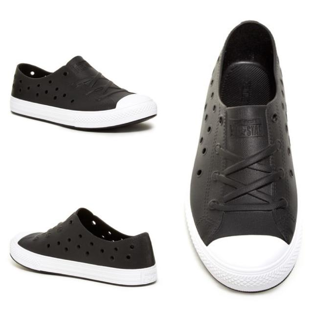 Best Converse Kids Chuck Taylor® All Star® Rockaway Perforated Slip-on  (black white)  60c8a0412