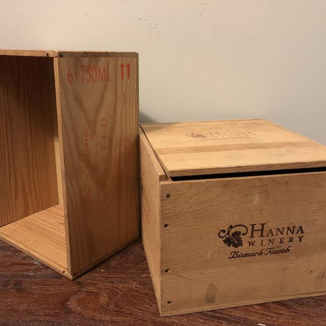 2 Wood Wine Boxes