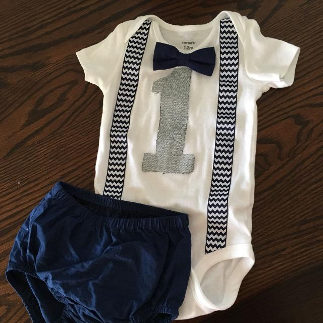 fd16feeb6 Find more Navy Blue Boys First Birthday Outfit for sale at up to 90% off