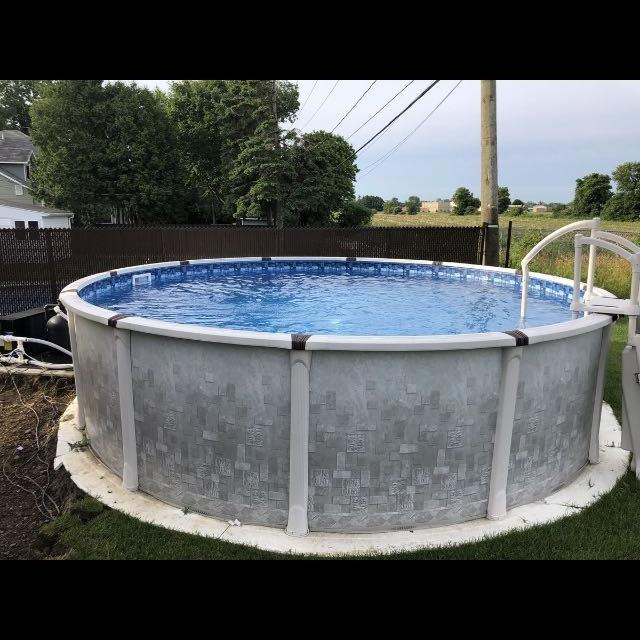 18' above ground salt water pool