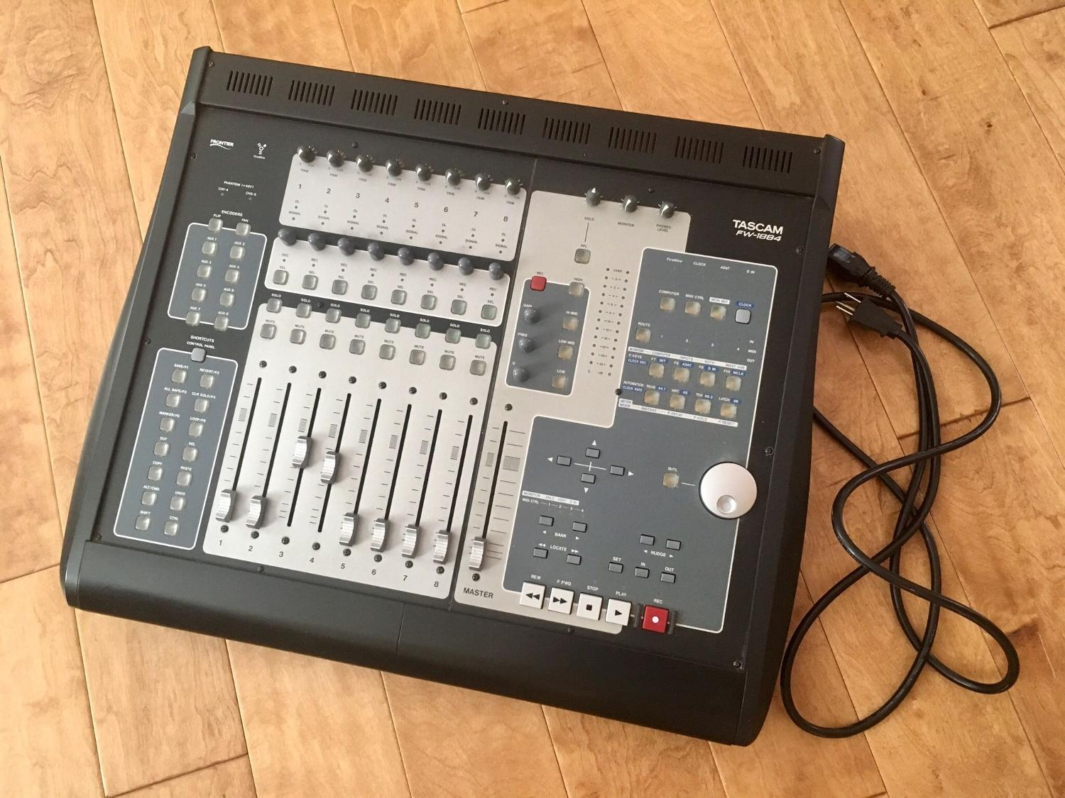 find more tascam fw 1884 professional daw control surface and audio midi interface for sale at. Black Bedroom Furniture Sets. Home Design Ideas