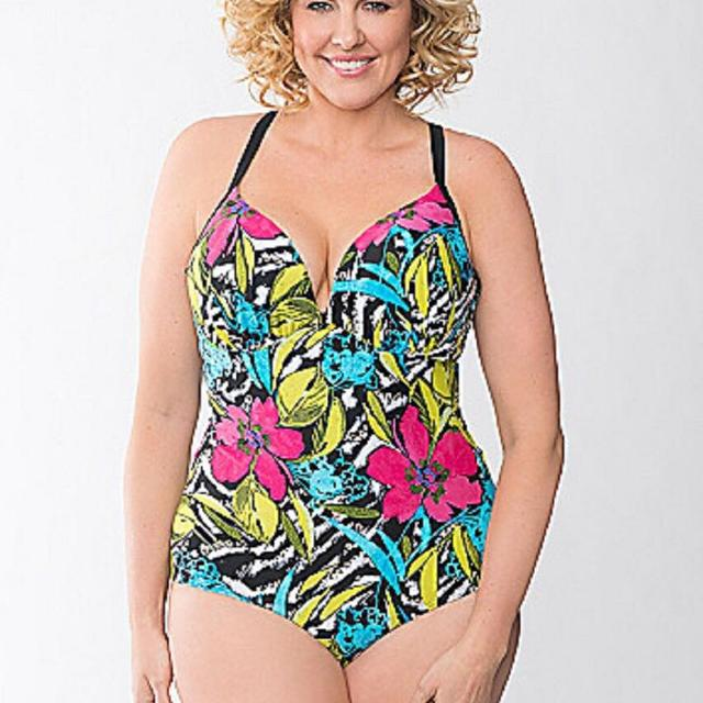 0f23f32c61 Best 16 - Cacique Lane Bryant Lace Up Back Colorful Floral Plus Swim  Bathing Suit for sale in Ottawa