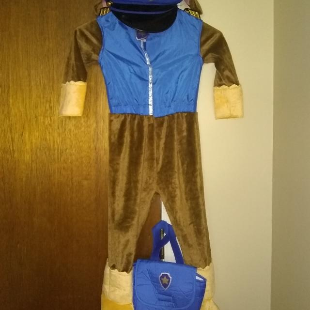 paw patrol chase halloween costume size 2 4t