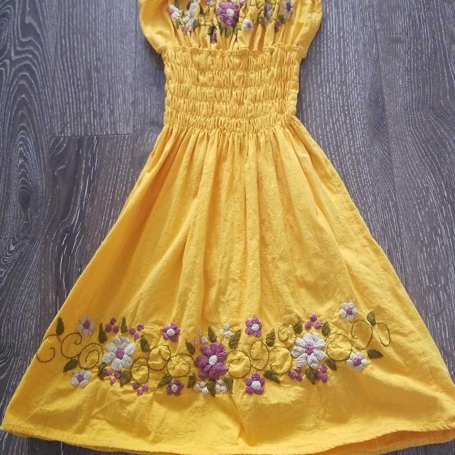 Find more yellow summer dress with cream purple flowers for sale yellow summer dress with cream purple flowers mightylinksfo