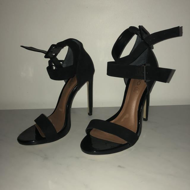 lowest price check out special sales *Brand New* Aldo black suede strappy heels 9
