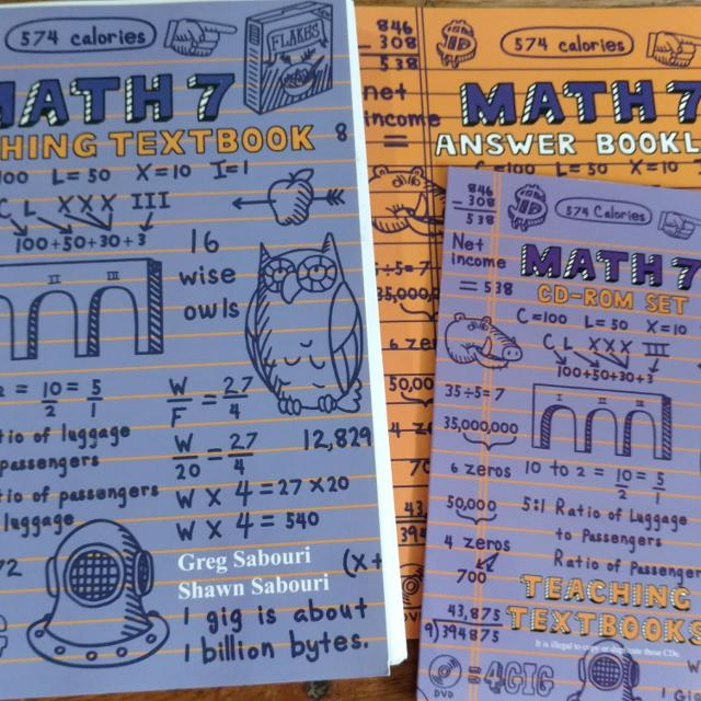 Teaching Textbook Math 7