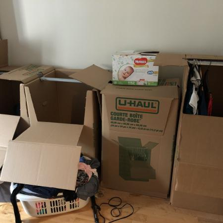 Clothing boxes from u-haul for sale  Canada