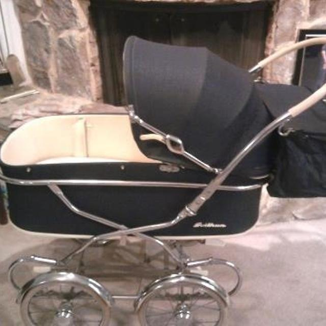 best vintage art deco baby stroller buggy chrome chassis 40s 250 00