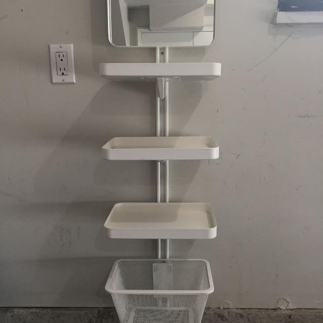 Best Euc Ikea Algot Wall Unit With Mirror Basket And 3 Trays For In Richmond British Columbia 2019