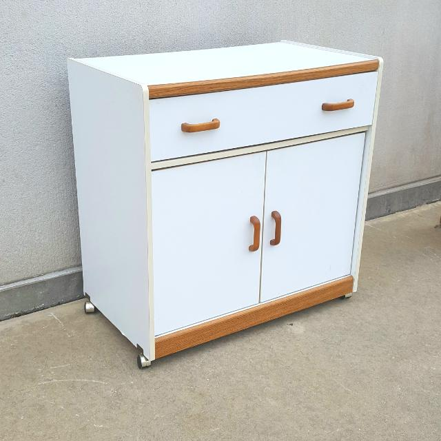 Large Rolling Single Drawer Microwave Cart Or Kitchen Island Cabinet